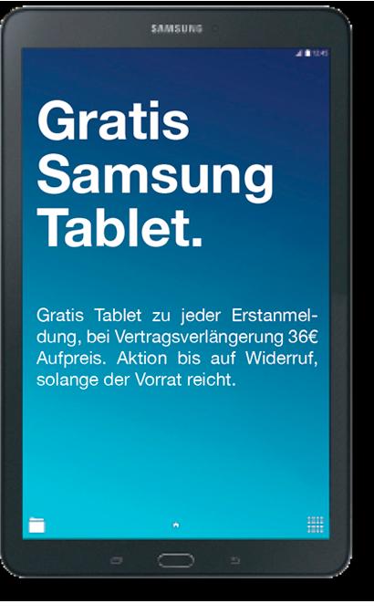 gratis samsung tablet